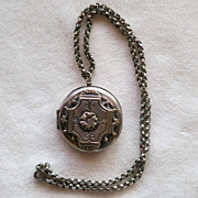 Etruscan Style  Silver Metal Locket