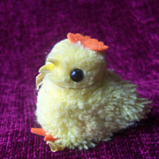Steiff Woolen Chick, 1976 to 1984, Steiff Button and Yellow Flag