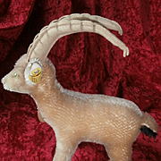 Steiff Rocky Capricorn Goat, 1972 to 1976, Steiff Button and Chest Tag