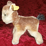 Steiff Chamois Buck 1961 to 1966, Steiff Button