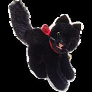 Hermann, Vintage  Lucky Black Cat  with Original Hermann Label