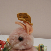 Steiff Woolen Bunny Rabbit, 1959 to 1964, Steiff Button
