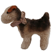 Steiff Terry Airedale Terrier, 1951 to 1961, No Id's