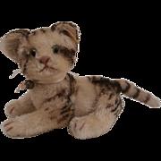 Wonderful Steiff Kitty Cat, Fully Jointed, 1959 to 1964, Steiff Button