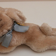 Steiff Lying Bunny Rabbit, 1959 to 1964, Steiff Button and Flag and Steiff Chest Tag