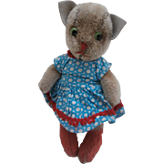 Millie, Well Loved Kersa Pussy Cat 1950 / 60's - Red Tag Sale Item