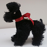 Steiff Black Snobby Poodle, 1968 to 1972, Steiff Button