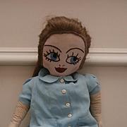 Lucy Vintage Handmade Rag Doll