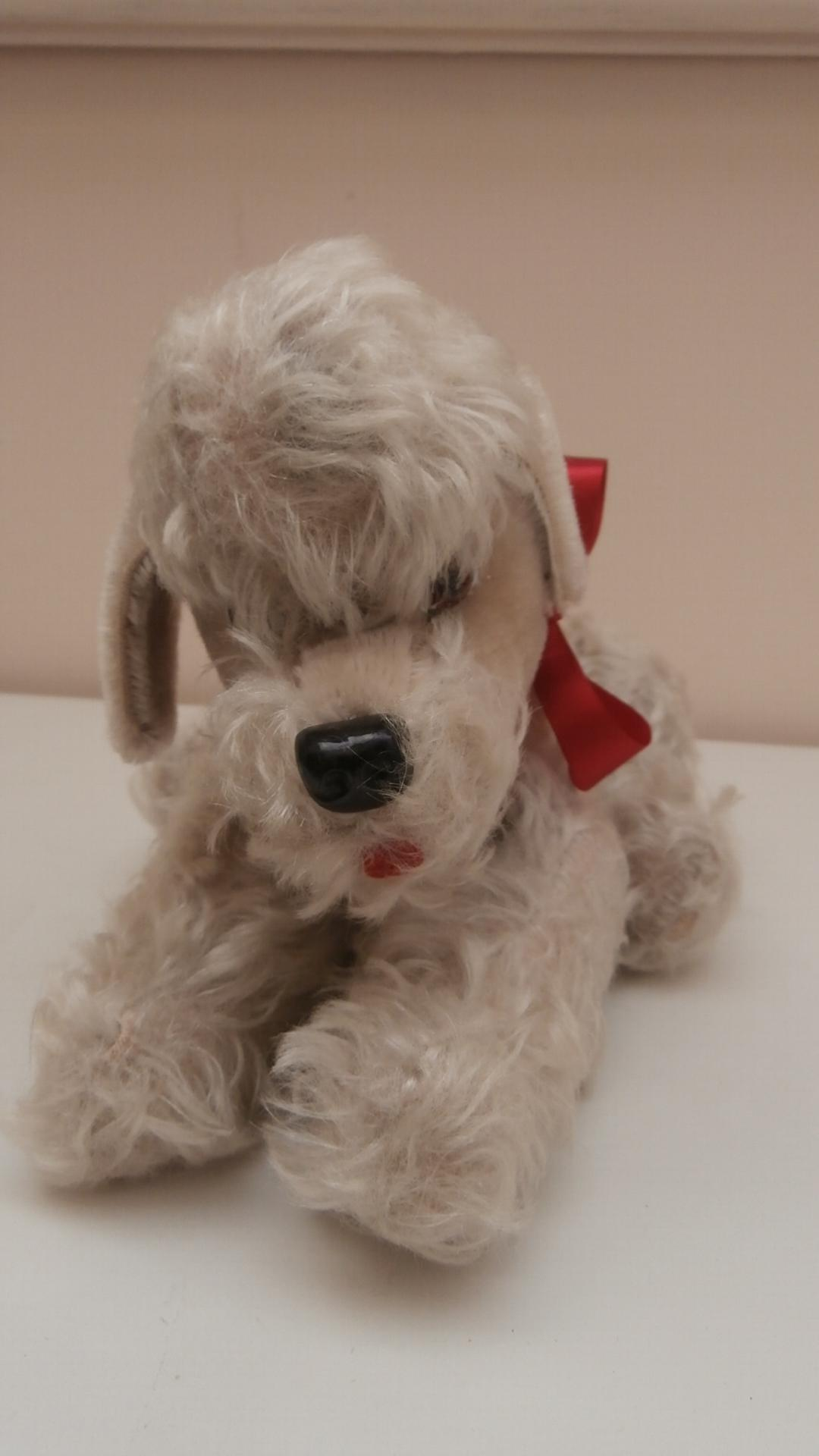 Vintage Hermann, Fully Jointed Poodle Dog, No Id's