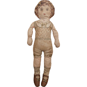 Poor Largest Size Deans Rag Book Cloth 'Big Baby Doll' 1910 to 1920