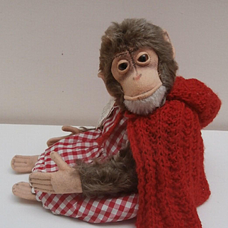 Darling Steiff Jocko Monkey, 1958 to 1964, No Button