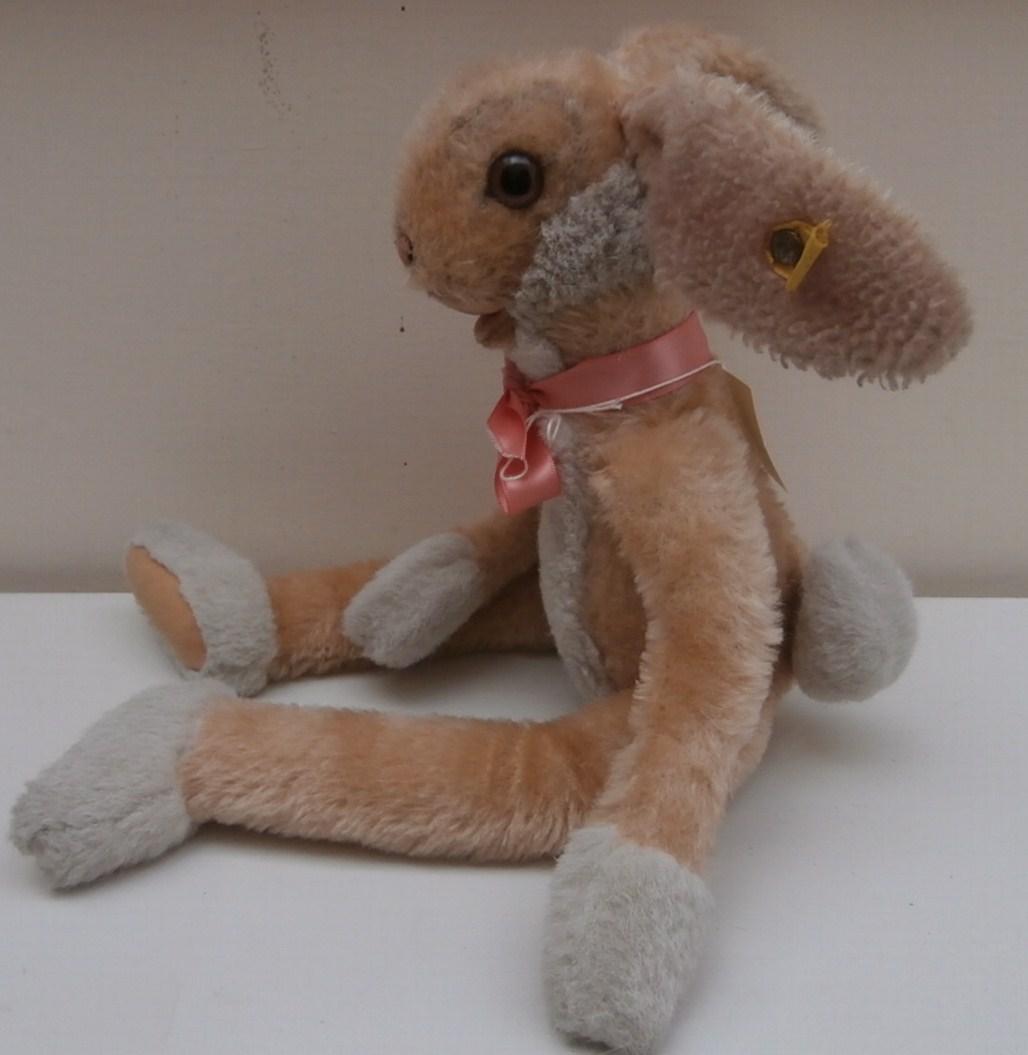 Steiff Lulac Bunny Rabbit , 1980's ,Steiff Button