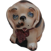 Sweet English Pottery  Vintage Dinkie Dog Character Pup