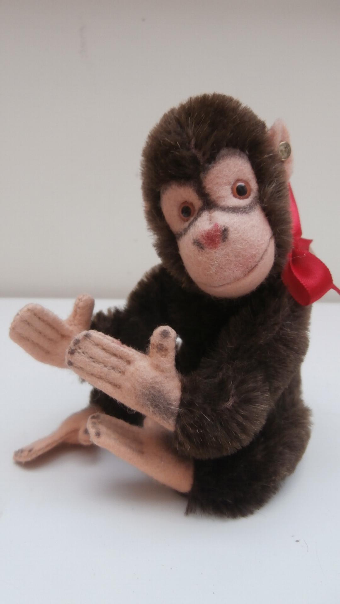 Steiff Jocko Flexible Monkey 1978 to 1980, Gold Steiff Button.
