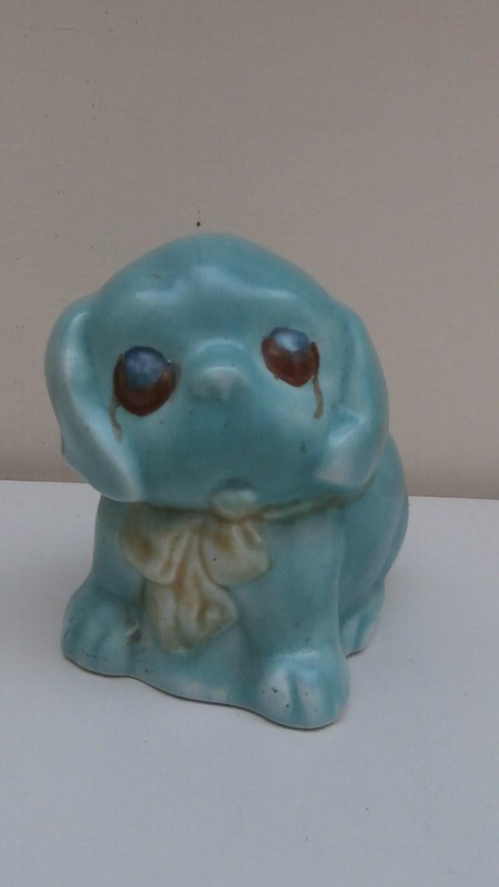 Very Cute English Pottery Dinkie  Dog Character Pup