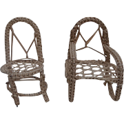 Old Chair and Rocking Chair Dolls House