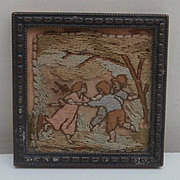 Old Dolls House Picture , Cloth , Children Playing