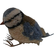 Amazing Vintage  Miniature Woolen Bird
