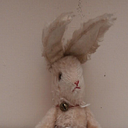 Schuco Vintage Bunny Rabbit with Rare Label and Jointed Arms.
