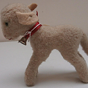 Cute Little Steiff Lamby Lamb, 1959 to 1964, Steiff Button.