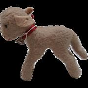 Cute Little Steiff Lamby Lamb, 1959 to 1964, Steiff Button.