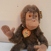 Steiff Jocko Monkey, , 1959 to 1964, Steiff Button and Chest Tag