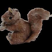 Steiff Perri Squirrel 1965 to 1967, Steiff Button