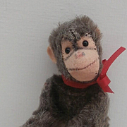 Steiff Miniature Jocko Monkey, Steiff Button, 1959 to 1964