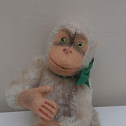 Steiff Monkey , 1950 to 1964, No Ids'