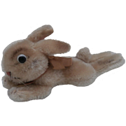 Steiff Lying Rabbit, 1959 to 1964, Steiff Chest Tag.