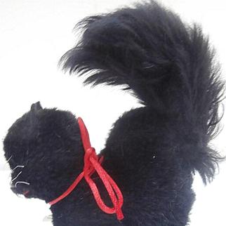 Cute Little Berg Black Tom Cat, Berg Heart Metal Tag, Austria