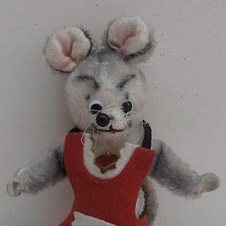 Cute Vintage Austrian Berg Comical Mouse, Berg Metal Tag