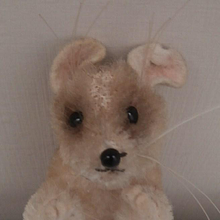 Poor Steiff Pieps Mouse, 1959 to 1964, No Id's