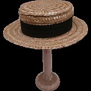 Vintage Doll / Teddy Bear Straw Boater Hat