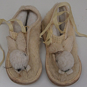 Sweet Childrens  Vintage Bunny Rabbit Shoes For Teddy Bear / Doll