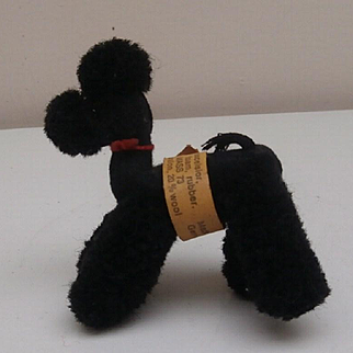 Steiff Vintage Woolen Poodle Dog, 1968 to 1976, Button