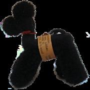 Steiff Vintage Woolen Poodle Dog, 1968 to 1976, Button