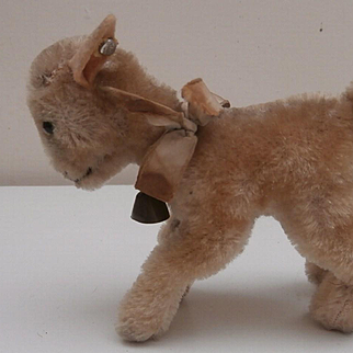 Steiff Smallest Size Zicky Goat, 1959 to 1964, Steiff Button