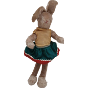 Schuco Bigo Bello Girl Bunny Rabbit, Original Clothes. 1950 / 60's