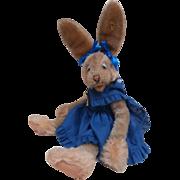 Gorgeous Steiff Lulac Bunny Rabbit, 1959 to 1964, Steiff Button