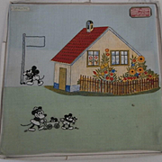 Amazing Rare Mickey Mouse and Minnie Mouse Walt Disney  Childrens Handkerchiefs, 1928 to 1930