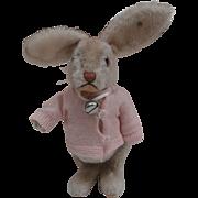 Gorgeous Steiff Larger Niki Rabbit , 1959 to 1964, Steiff Button, A/F