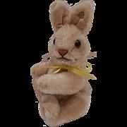 Rare Smallest Size Niki Rabbit, Steiff Button 1952 to 1964