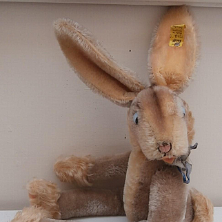 Steiff Rabbit 'Lulac' ,1959 to 1964, Steiff Button