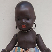 Sweet  Heubach Koppelsdorf Black Baby Doll  399,  Smallest Size marked 17/0