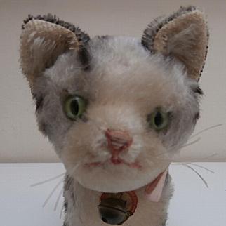 Steiff Tabby Pussy Cat, 1967 to 1976, Steiff Paper Label