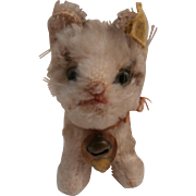 Darling Little Steiff Pusy Cat, Steiff Button and Chest Tag,1959 to 1964