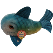 Small Steiff Flossy Fish, Steiff Button and Steiff Chest Tag, 1967 to 1970
