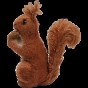 Rare Steiff Red Squirrel,  Steiff Button, 1949 to 1956