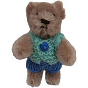 On Hold Timmy, Sweet Vintage Miniature Schuco Teddy Bear On Hold